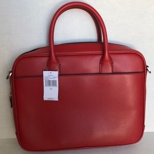 Michael Kors Bags - Michael Kors NWT Red leather briefcase ( Warren)